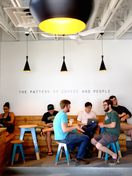 The Pattern of Coffee and People at Houndstooth Dallas