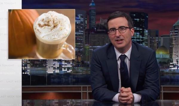 John Oliver Breaks From Politics to Trash Pumpkin Spice Lattes