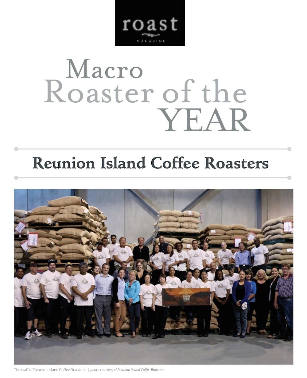 Reunion Island Coffee Roasters Roast Magazine roaster of the year