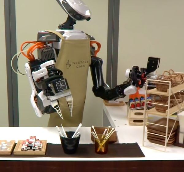 robot making coffee