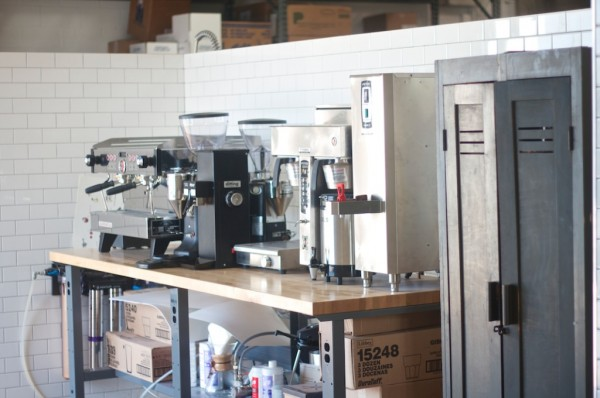 Inside the coffee lab at Dolcezza.