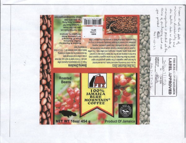 jamaica coffee labeling cib