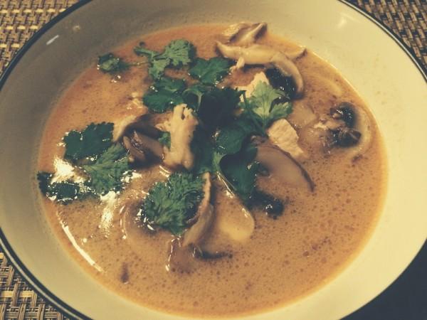 classic tom kha gai soup