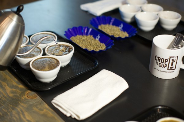crop to cup coffee cupping