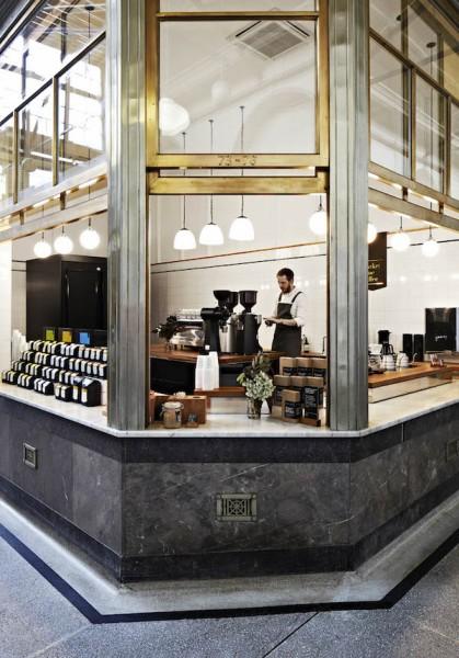 Design Details: Market Lane's Elegant, Glowing Bar Inside an Awkward Corner Space