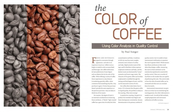Color Analysis in QC, Roast Logging and More Inside the Jan./Feb. Issue of Roast