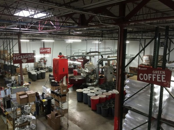 The new Crimson Cup roasting headquarters in Columbus. All photos courtesy of Crimson Cup.