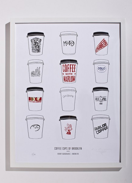 The Brooklyn coffee cup print.