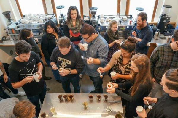 The public cupping at Temple Coffee. Photo courtesy of Temple Coffee.