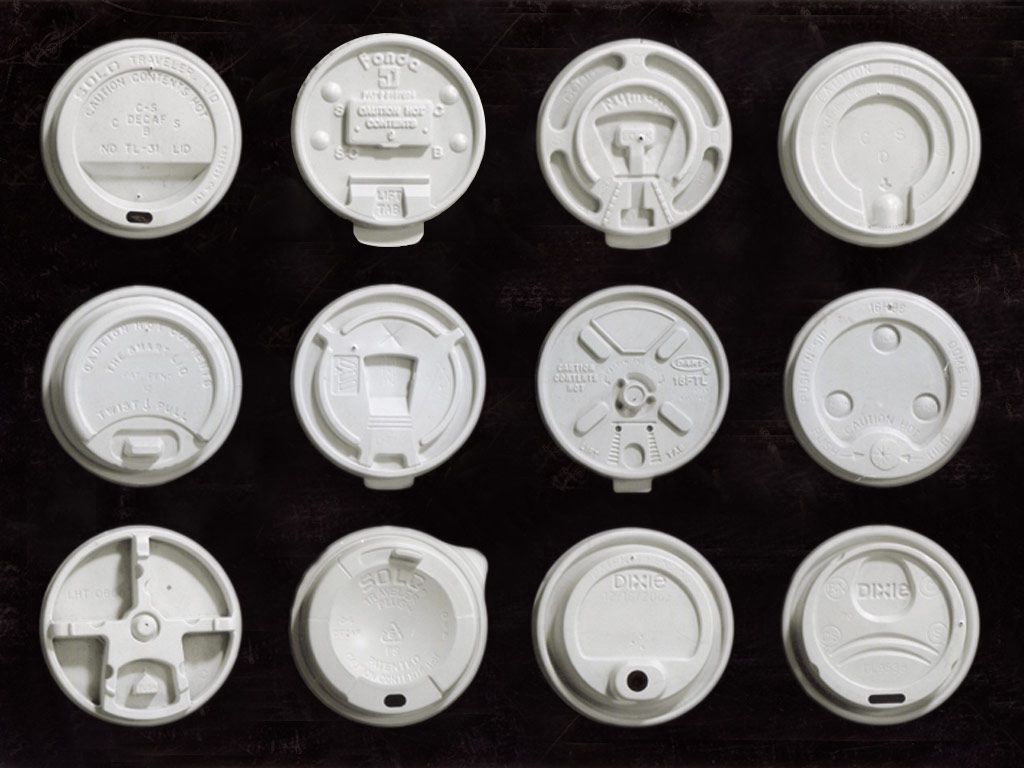 Coffee Cups With Lids : The owner of world s largest coffee cup lid collection on