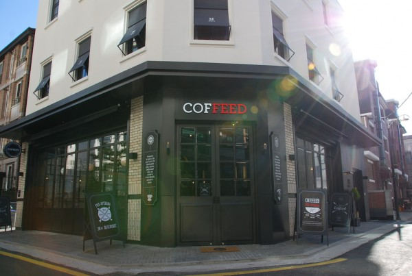 The 4,000-square-foot Coffeed Seoul.