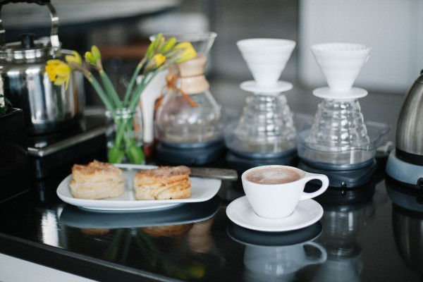 Inside MmmHmm Coffee in Ballard. Photo by Kate Kipley.