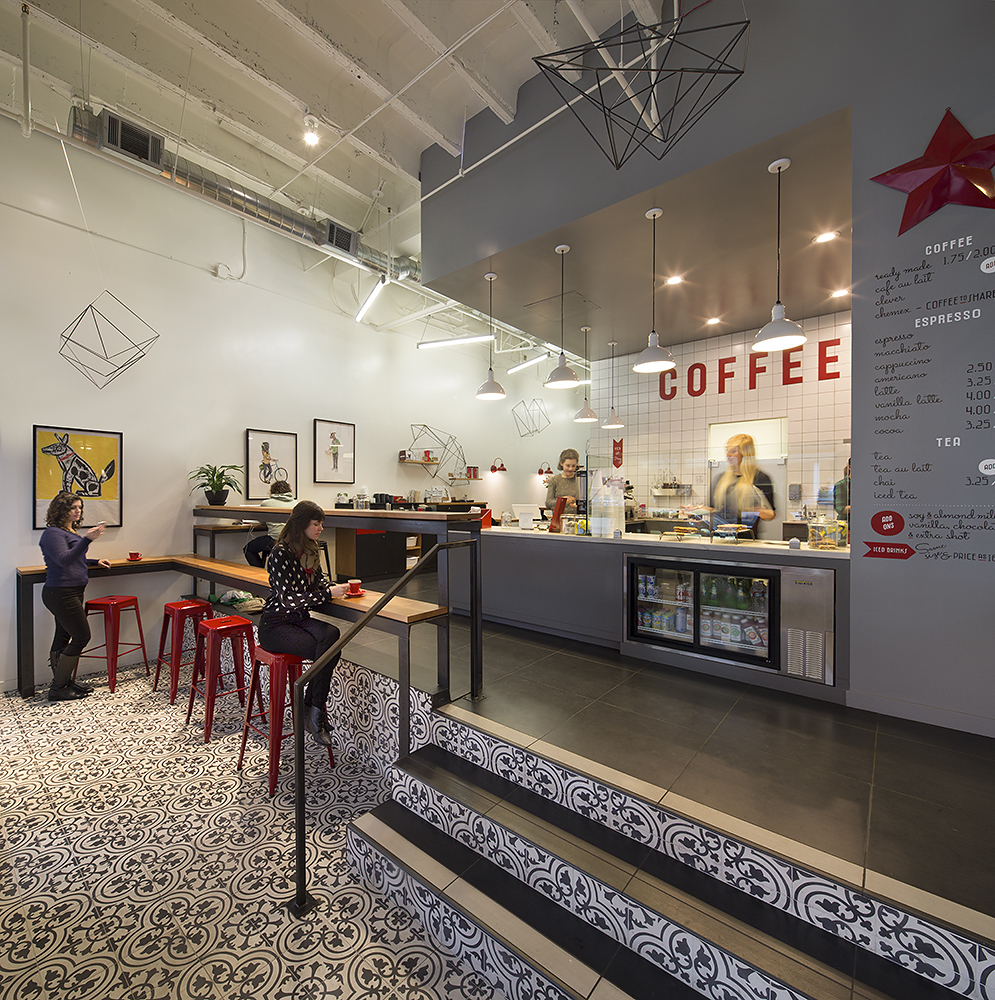 now brewing in eagle rock los angeles found coffee  daily  - design details splitlevel comfort at modern coffee in uptown oakland