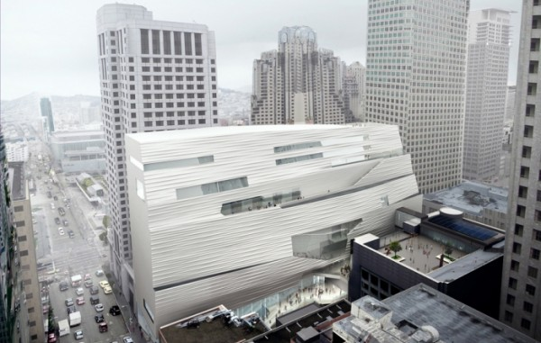 Rendering of the renovated San Francisco Museum of Modern Art