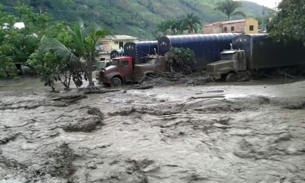 Damage from last week's mudslide in Salgar, Antioquia, Colombia.