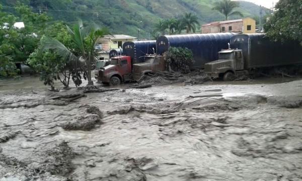 Damage from last week's mudslide in Salgar, Antioquia, Colombia.