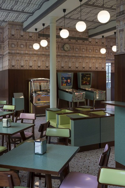 Wes Anderson Has Designed a Very Andersonian Cafe in Milan, Bar Luce