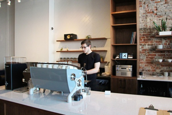 At Beansmith Coffee Roasters in Omaha.