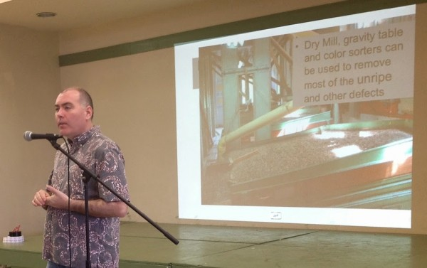 Andrew Hetzel during the Ka'u Coffee College.