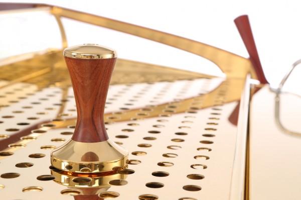 gold tamper espresso