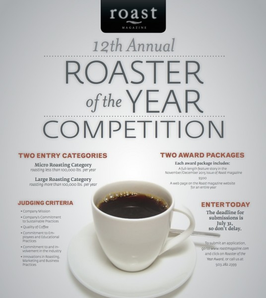 Now Accepting Applications for the 12th Annual Roaster of the Year