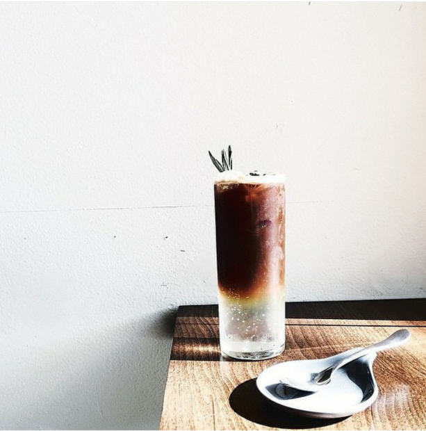 The espresso tonic with rosemary. Photo by Neptune Coffee.