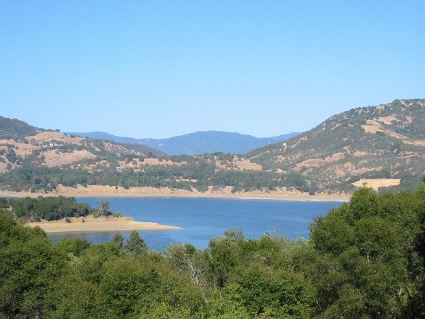 A view of Lake Mendocino from the lovely town of Ukiah, Calif.
