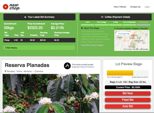 Meet NewCrop, an Online Split-Lot Green Coffee Bidding Platform