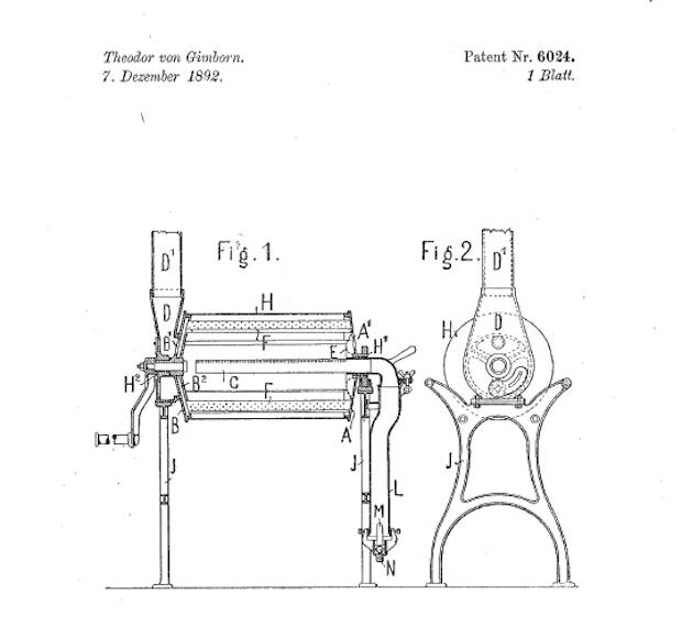 1892 patent held by Emmericher Maschinenfabrik and Theodor von Gimborn