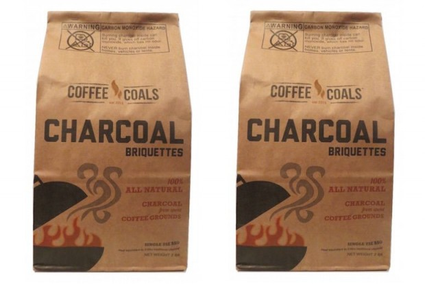 Seed to cup grill coffee coals turn spent grinds into