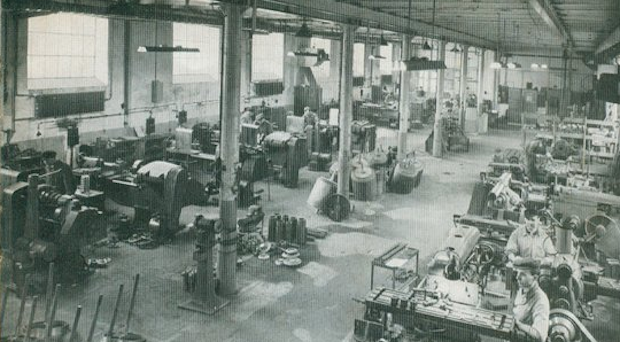 The Emmericher Maschinenfabrik before its eventual destruction.
