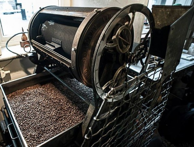 The working 14 lb Uno production roaster. Photo courtesy of J Atkinson & Co.