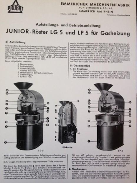 Post-war Probat advertisement. Date unknown.