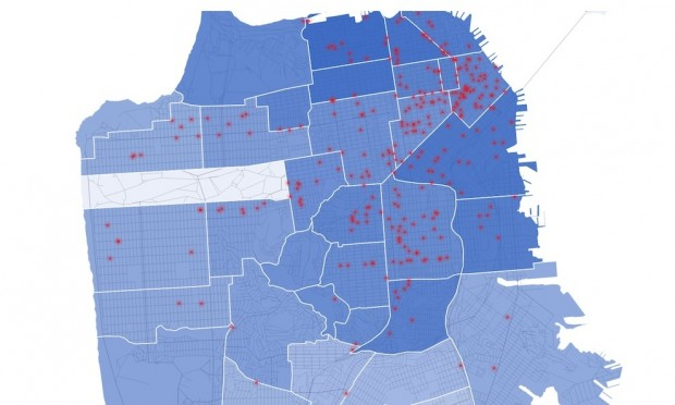 This Interactive Map Shows Increased Rent After Coffee Shops Appear