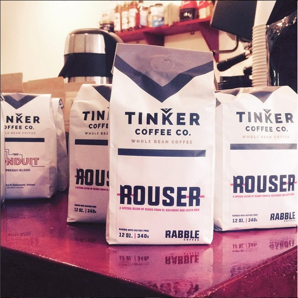The Rouser blend, in collaboration with Tinker Coffee