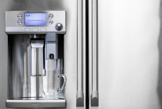 GE Cafe Series refrigerator Keurig