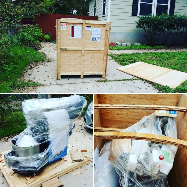 The Tiny House North roaster, pictured pre installation.