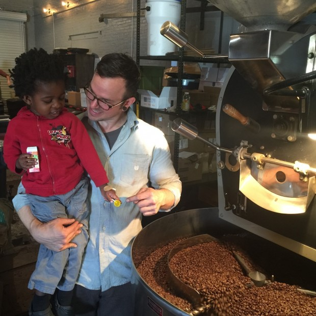 Andy Agaba's son, CJ, pictured with a partnering roaster.