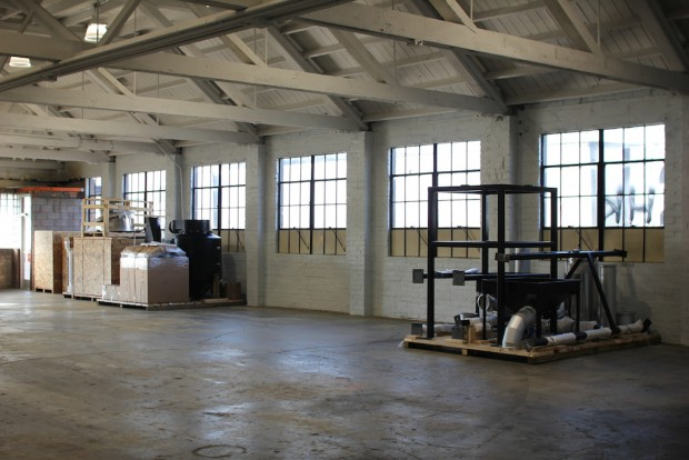 The new roasting space.