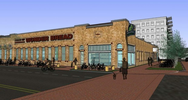 Rendering of the renovated Wonder Bread building.