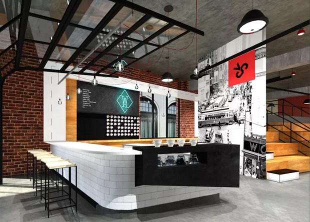Western & Atlantic coffee bar rendering