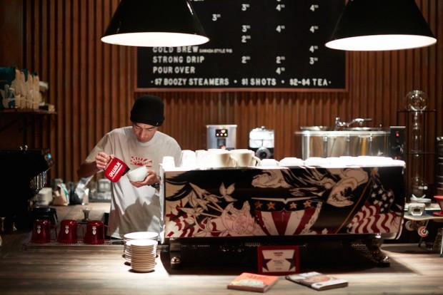 Hiroshi Sawada at Sawada Coffee USA. Photo by Galdones Photography.