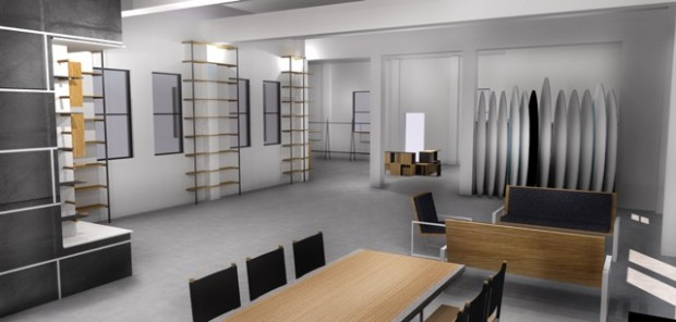 Rendering of the future Moniker Coffee space. Courtesy of Moniker Group.