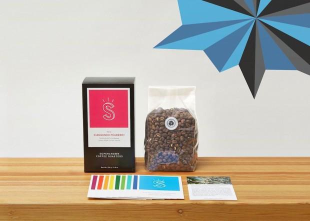 Supercrown Coffee Roasters packaging.