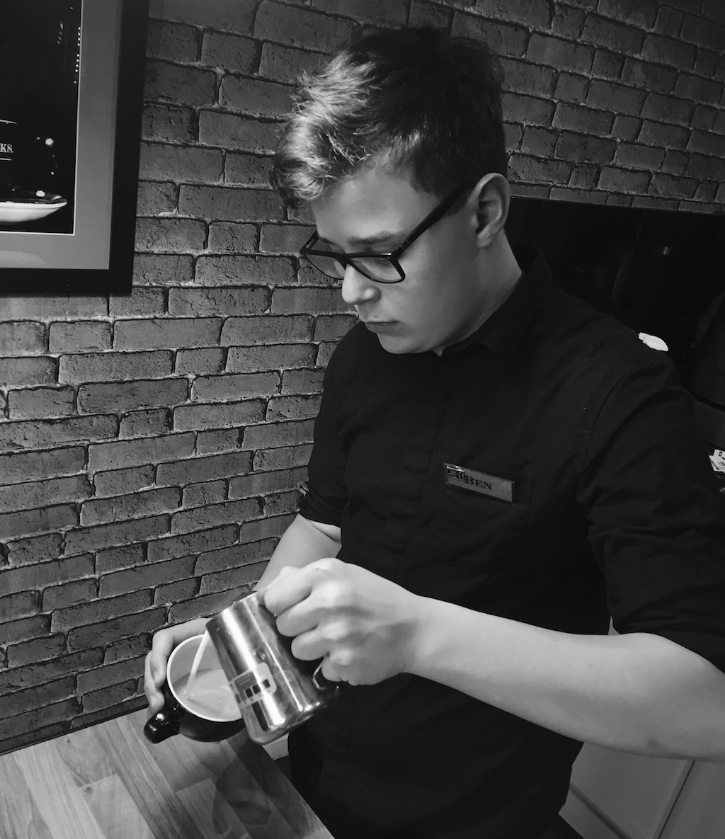 Ben Garnett, the world's youngest certified barista.