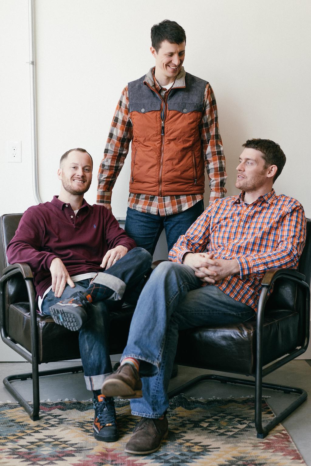 Brad Anthony, Matt Argo and Zach Hensley of Good Folks Coffee. All photos courtesy of Good Folks.