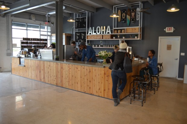 The redesigned coffee bar.