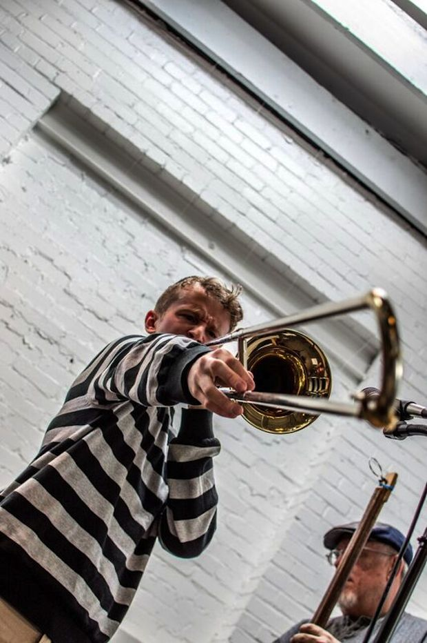 """Trumpet player from the ongoing """"2nd Saturday"""" series."""