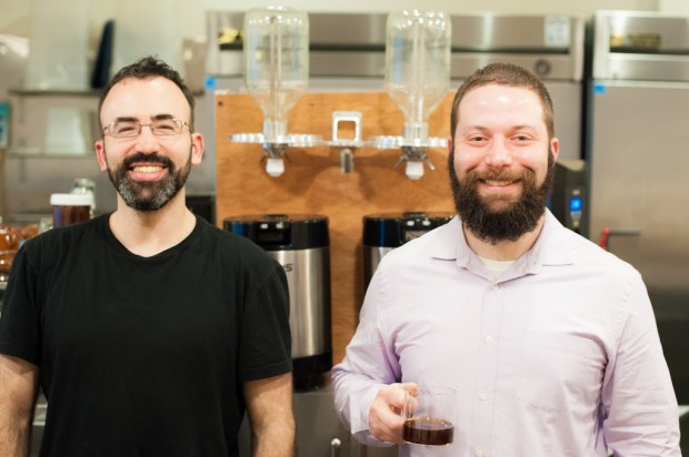 Eli Salomon (left) and Josh of Voga Coffee