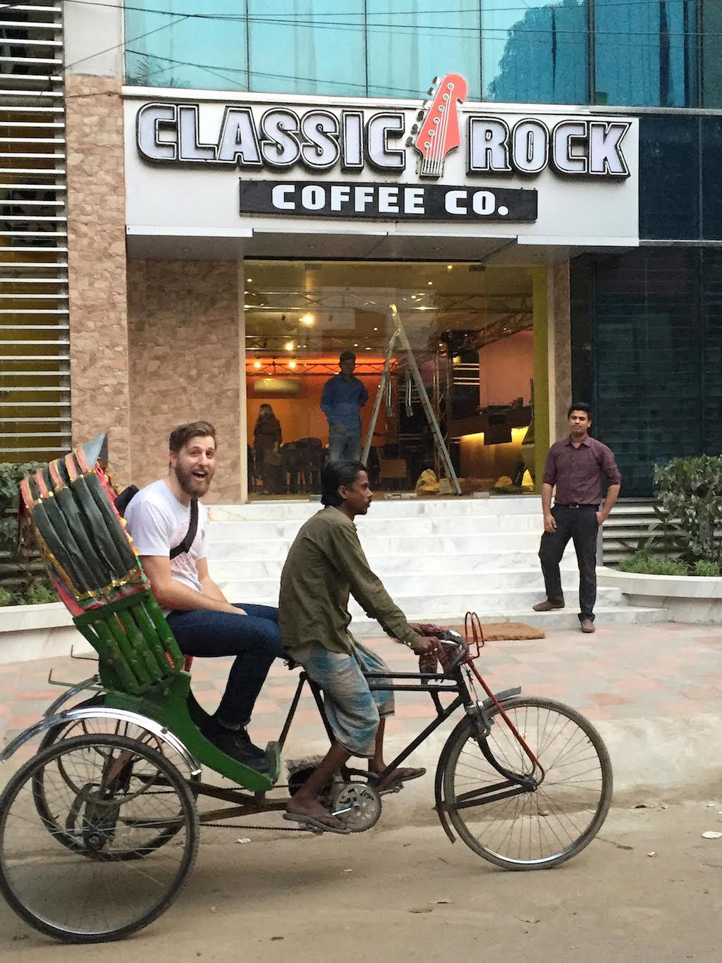 Classic Rock Coffee's Mason Jones in Dhaka, Bangladesh